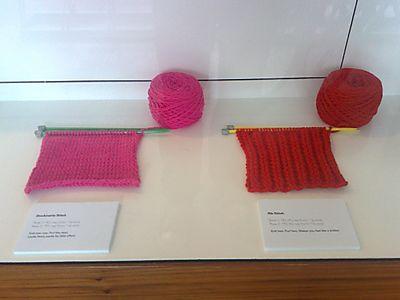 Stockinette and rib stitch