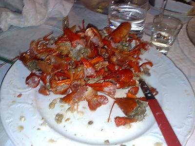 Crayfish after
