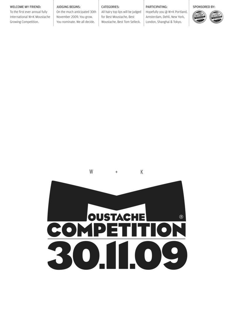 W+K Moustache Comp 09 Poster A3