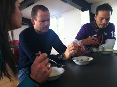 Colman eating