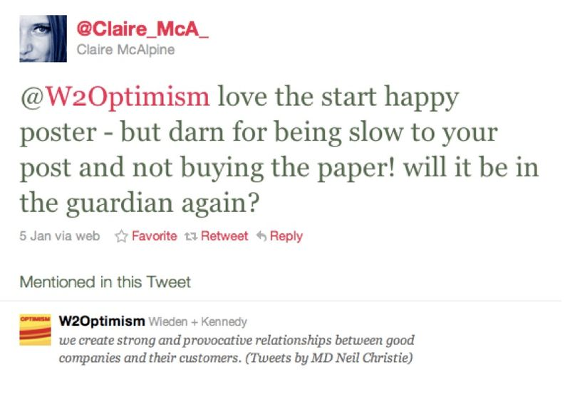 Start happy tweet