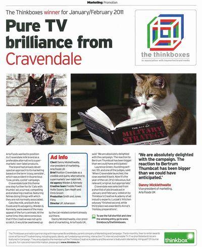 Cravendale Thinkbox Marketing 30 March