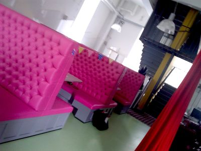 Pink booths