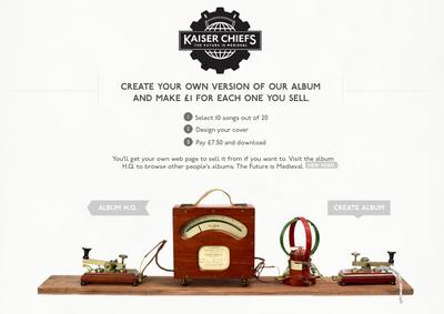 Kaiser Chiefs Bespoke Album Creation Experience by Wieden+Kennedy London