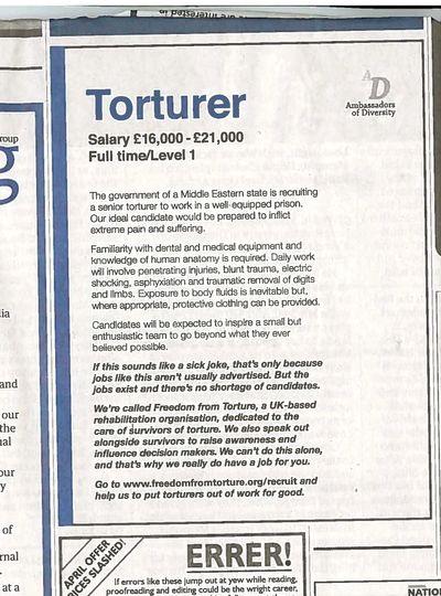 Torturer scan