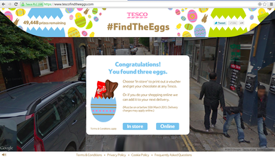 Free Malteaster chocolate bunny or Hudl tablet at Tesco Find The Eggs
