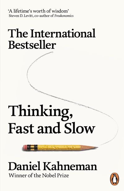 Thinking Fast and Slow by Daniel Kahneman, jacket cover